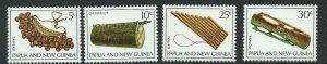 PAPUA NEW GUINEA SG165/8 1969 MUSICAL INSTRUMENTS MNH