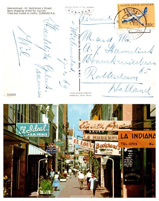 Netherlands Antilles, Picture Postcards, Aviation