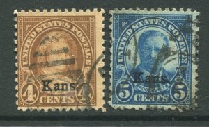 1929 issue #662, 663,  KANS OVPTS ⭐⭐⭐⭐⭐⭐