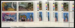 Canada USC #1107i Mint (5) LR Imprint Blocks Shpwing Pink Print Flaw VF-NH