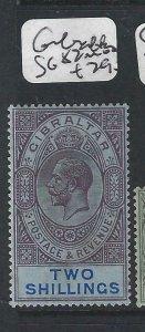 GIBRALTAR  (P0207B)  KGV 2/-  SG 82   MOG