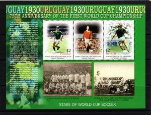 Tuvalu  #974 (2005 75th anniversary of World Cup Soccer sheet) VFMH CV $10.00