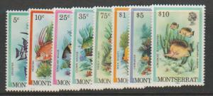 Montserrat SG 555 - 570 set of 8  SG 490 - 505 inscribed ...