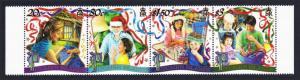 Pitcairn Christmas strip of 4v SG#583-586 SC#530