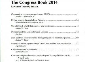 American Philatelic Congress. The 80th Congress Book Hartford. Connecticut 2014