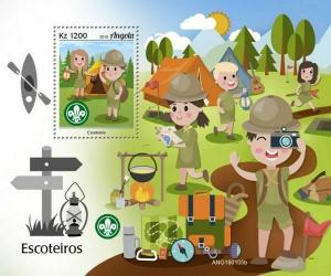 Z08 IMPERF ANG190105b ANGOLA 2019 Scouts MNH ** Postfrisch