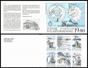 H397 Sweden Polar Exploration 1989 Scott #1749-1754 penguin birds M. Mork