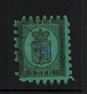 Finland SC# 7, Used, Center thin, few pulled perfs - Lot 082017