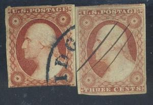 11 (2) Used F-VF 1 with pen cancel Cat$22.50