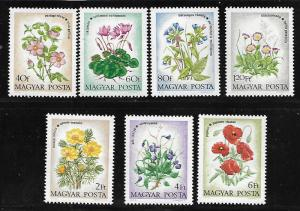 HUNGARY 2240-2246 MNH FLOWERS SET OF 7