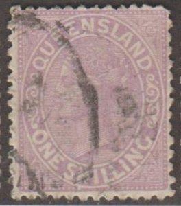 Queensland - Australia Scott #70 Stamp - Used Single
