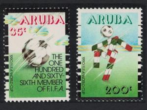 Aruba World Cup Football Championship Italy 2v 1990 MNH SG#80-81