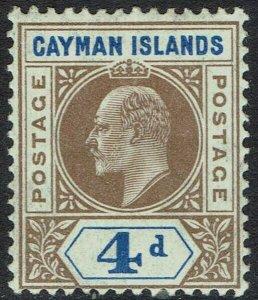 CAYMAN ISLANDS 1907 KEVII 4D