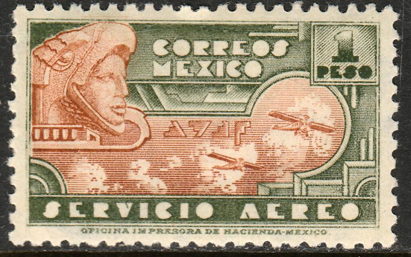 MEXICO C139, $1P 1934 Definitive. Eagleman. MINT, NH. F-VF.