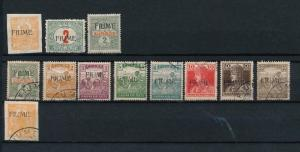 Fiume 1918 Lot Military Aid MH/used  DE.213