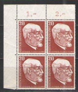 Germany - Deutsche Bundespost 1957 Sc# 777 MNH VG/F  Block of 4