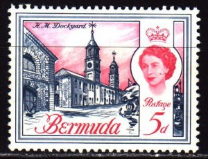 Bermuda. 1962. 166x from the series. Tourism, Portsmouth Royal Shipyard. MNH.