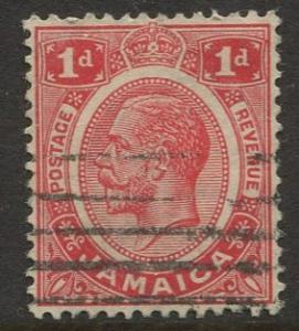 Jamaica -Scott 61 - KGV Definitive -1916 - Used - Single 1p Stamp