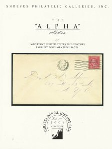 Alpha Collection of U.S. Earliest Documented Usages, Shreves, N.Y., Feb.16, 2006