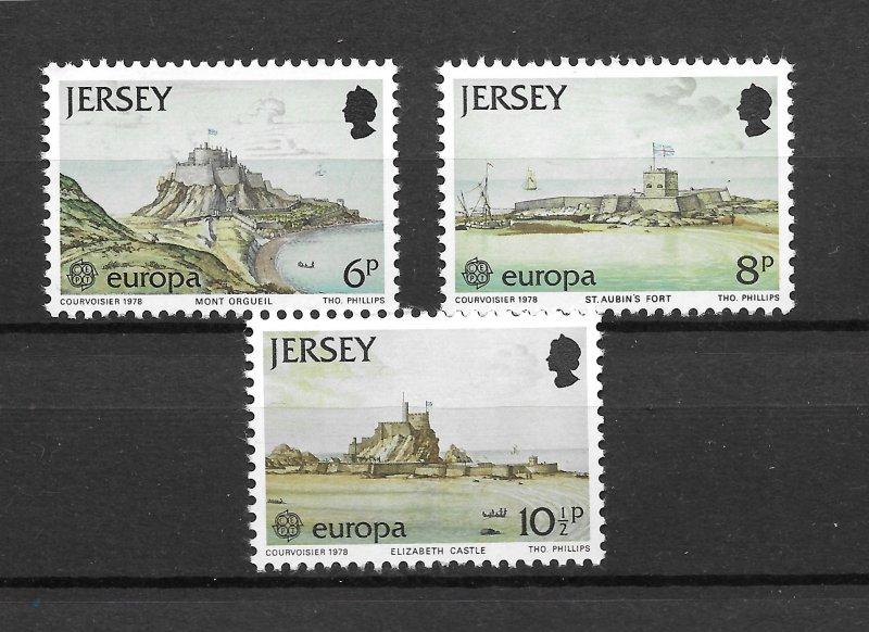 Jersey MNH 187-9 Europa Island Scenery 1978