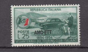 J27606 1954 italy-trieste set of 1 mh #206 sports ovpt