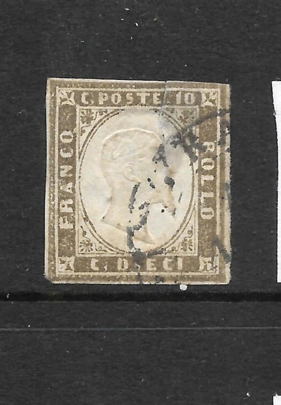 SARDINA  1855-63  10c  OLIVE GREY    FU   SG 35  CV130pds