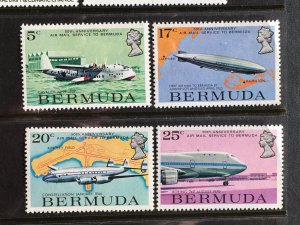 1975 Bermuda 50th Anniversary of Airmail Service issue MNH Sc# 318-21