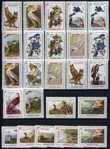 Haiti 1975-78 John Audubon Birds 'Air Mail' set of 24 val...