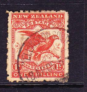 NEW ZEALAND 1898-07  1/-  PICTORIAL   FU P11   SG 268