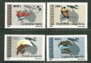Romania MNH 4350-3 Bird Paintings 2000