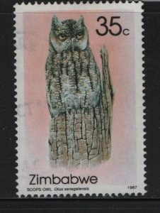 Zimbabwe 545 Used, 1987 Indigenous Owls, Scops