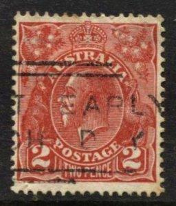STAMP STATION PERTH Australia #116 KGV Head Used Wmk.228 - CV$0.30