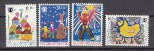 J27263 1969 belgium set mnh #b841-4 childrens art