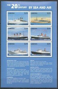 PK347 LIBERIA AVIATION PLANES TRANSPORT SHIPS SAILNING KB MNH STAMPS