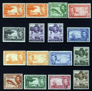 CAYMAN ISLANDS KG VI 1938-48 Complete Pictorial Set SG 115 to SG 126a MINT