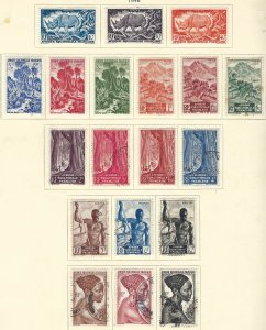 French Equatorial Africa 166-84 MLH + used cv 12.50 BIN $6.50