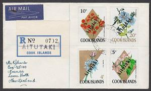 AITUTAKI 1972 Registered cover to New Zealand - opts on Cook Islands.......28069