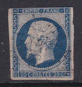 France #15 F-VF three margins used Napolean III