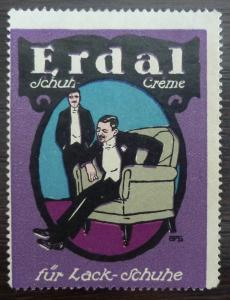 POSTER STAMP - ERDAL - REKLAMEMARKE! germany schuh shoe fashion J9