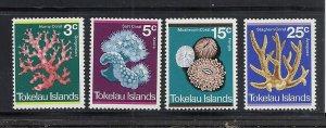 Tokelau #37-40 comp mnh cv $5.60 Coral