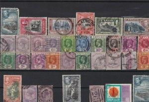 ceylon used stamps ref r12394