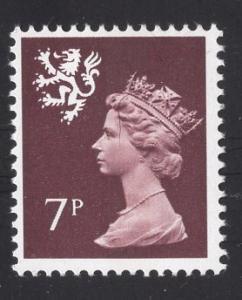 Great Britain Scotland  #SMH8   7p   MNH Q E II   Machin