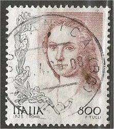 ITALY, 1998, used 800l, Women in Art, Scott 2226