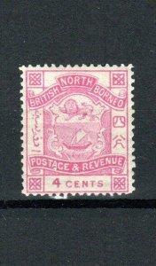 North Borneo 1889 4c MLH