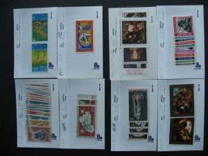 Burkina Faso MH, MNH collection assembled in sales cards