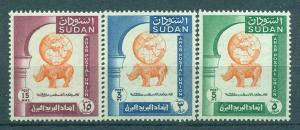 Sudan sc# 121-123 mlh cat value $2.50
