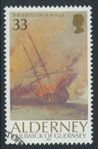 Alderney  SG A54  SC# 67  Ships Battle La Hogue Used First Day Cancel - as pe...
