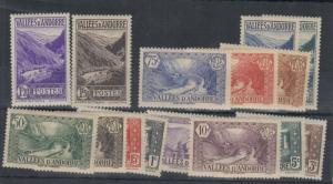 Andorra 1932 Pictorial Set of 15 MVLH J4572