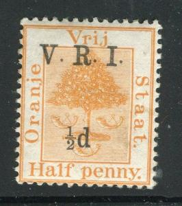 ORANGE FREE STATE;  1900 early V.R.I. surcharge Mint hinged 1/2d value,