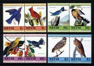 NEVIS QE II 1985 John J. Audubon Birth Bicentenary Set SG 269 to SG 276 MNH